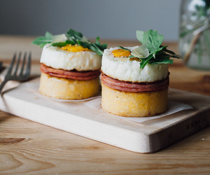bacon, egg, and eggs benedict image