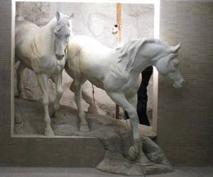 art, horse, and sculpture image