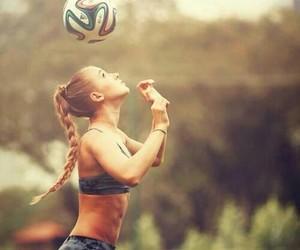 girl, football, and sport image