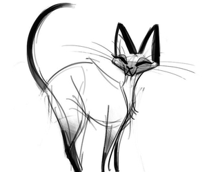 cat, art, and draw image