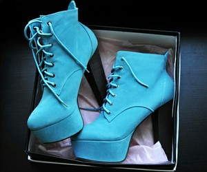 azul, salto, and shoes image