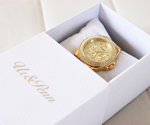 watch, gold, and luxury image