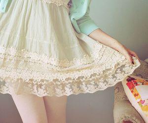 dress, fashion, and lace image