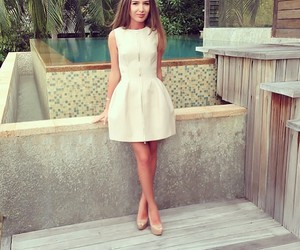 dress, elegant, and makeup image