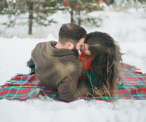 winter, cute, and love image