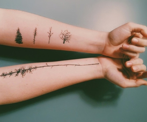 tattoo, tree, and nature image