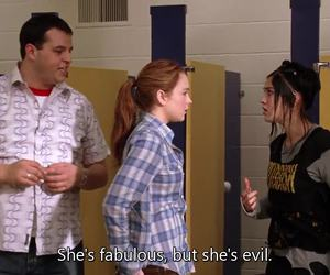 grunge, lindsay lohan, and mean girls image