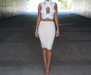 fashion, skirt, and top image