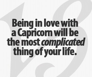 complicated, capricorn, and love image