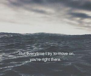 quote, sad, and sea image