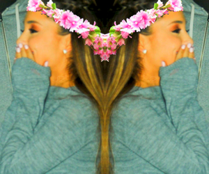 double, edit, and flowers image