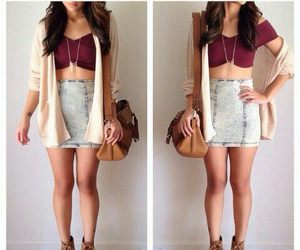 <3, outfit, and fashion image