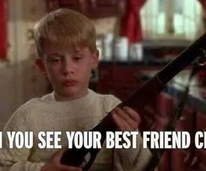 best friends, gun, and funny image