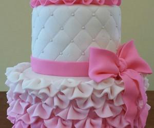 cake, pink, and princess image