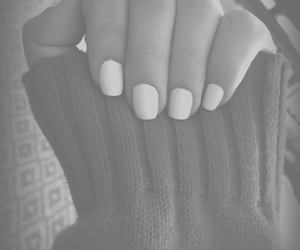 nails, sweater, and white image
