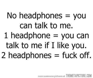 funny, headphone, and true image