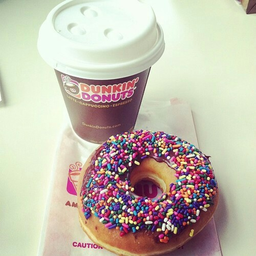 donuts, food, and dunkin donuts image