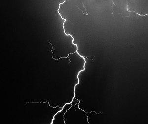 lightning, storm, and blue image