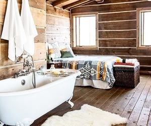 bath, bed, and house image