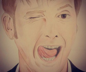 drawing, doctorwho, and davidtennant image