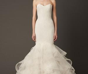 wedding dress, Vera Wang, and wedding image