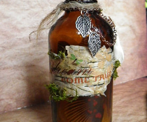 apothecary, glass, and moss image