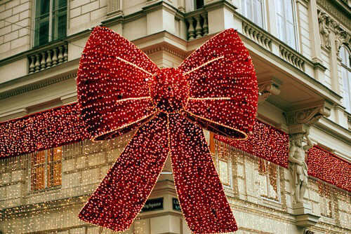 christmas, light, and bow image