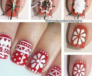 chrismas, nail art, and noel image