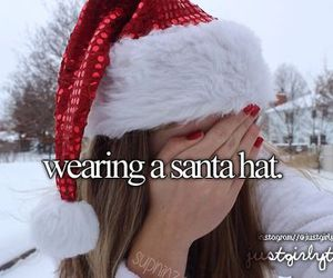 christmas, hat, and santa image