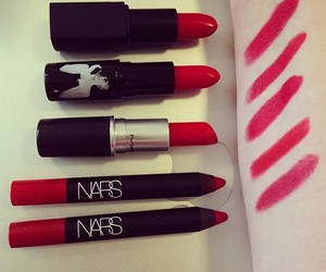 lipstick, red, and nars image