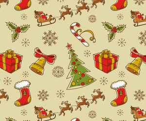christmas, pattern, and wallpaper image