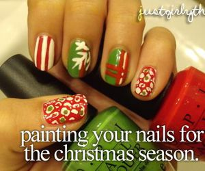 nails, christmas, and just girly things image