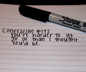 confession, Sharpie, and quote image