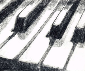 piano, art, and music image