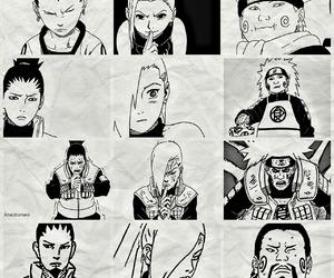 ino, naruto, and shikamaru image
