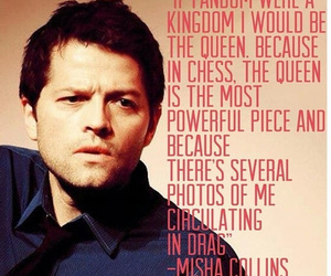 supernatural, misha collins, and fandom image