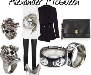 Alexander McQueen, fashion, and Polyvore image