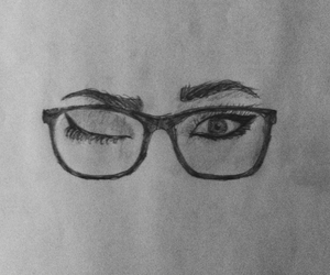eyeliner, eyes, and drawing image
