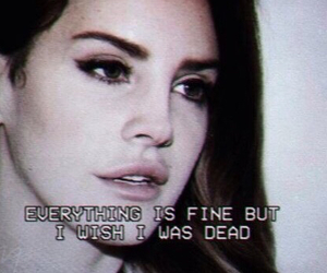lana del rey, grunge, and dead image