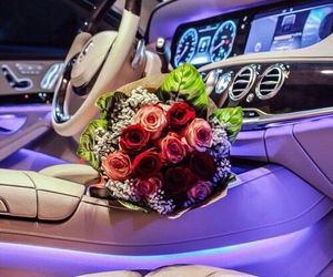 love, car, and girl image
