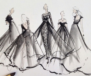 clothes, gowns, and black dresses image