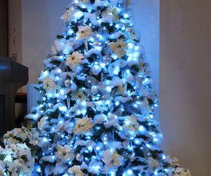 christmas, christmas tree, and blue image