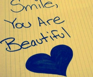 smile, beautiful, and heart image