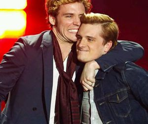 josh hutcherson, sam claflin, and catching fire image