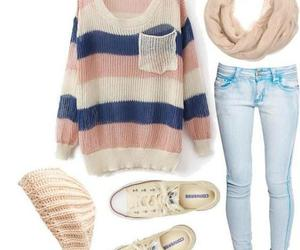 clothes, shoes, and sweater image