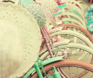 bicycle, color, and girly image