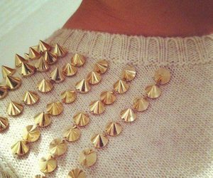fashion, sweater, and spikes image