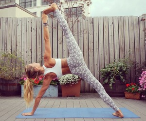fitness, girl, and stretch image