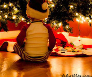 child, christmas, and christmas tree image