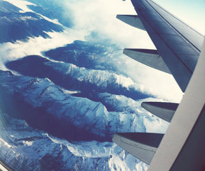 airplane, travel, and fly image